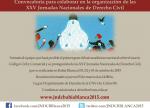 Convocatoria para integrar comision organizadora de las JNDC